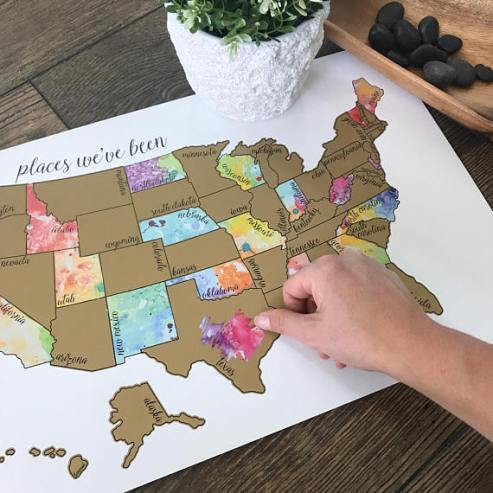 scratch map - KD watercolor